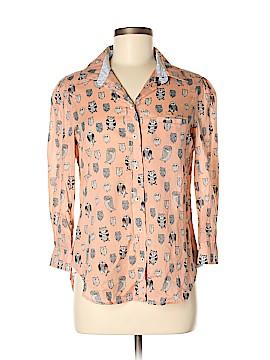 HD in Paris 3/4 Sleeve Button-Down Shirt Size 6