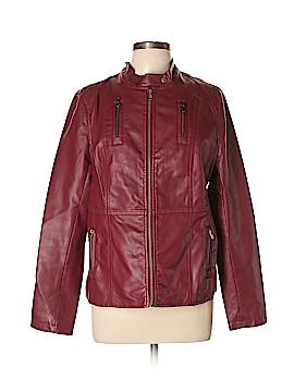 Relativity Faux Leather Jacket Size L