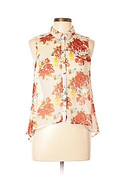 Antilia Femme Sleeveless Button-Down Shirt Size M