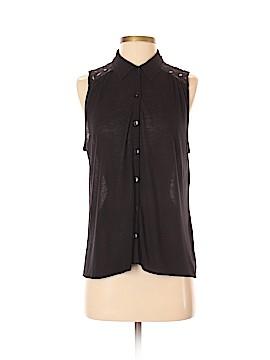 Hi-Line Sleeveless Button-Down Shirt Size S