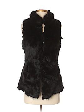 White House Black Market Faux Fur Vest Size S