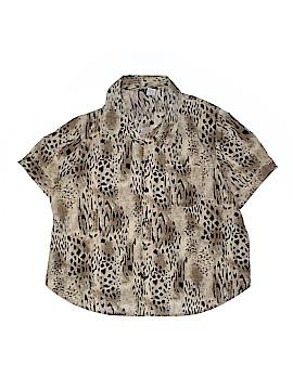 Stunt Short Sleeve Blouse Size 1X (Plus)