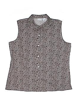 Kim Rogers Sleeveless Button-Down Shirt Size XL