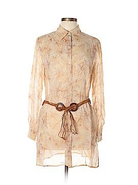 The Look by Randolph Duke Long Sleeve Silk Top Size 10