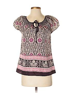 Heritage 1981 Short Sleeve Silk Top Size S
