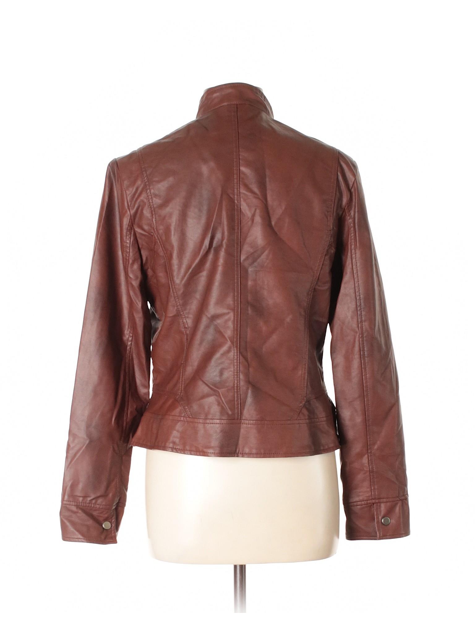 Leather Faux Bernardo Jacket Winter Boutique CXqPSS