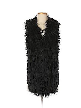CAbi Faux Fur Vest Size S