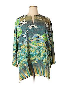 Citron Santa Monica Collection 3/4 Sleeve Blouse Size 3X (Plus)