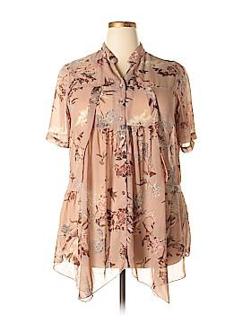 Denim 24/7 Short Sleeve Blouse Size 16