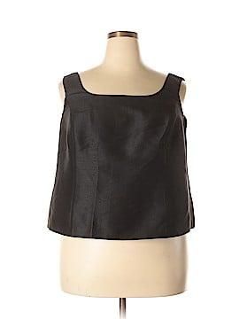 Linda Allard Ellen Tracy Sleeveless Silk Top Size 18 (Plus)