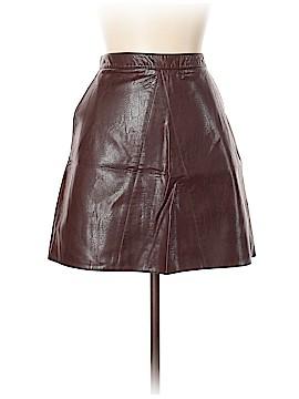 Zara Basic Leather Skirt Size L