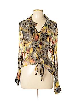 Alberto Makali Long Sleeve Silk Top Size L