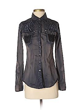 Roar Long Sleeve Button-Down Shirt Size XS