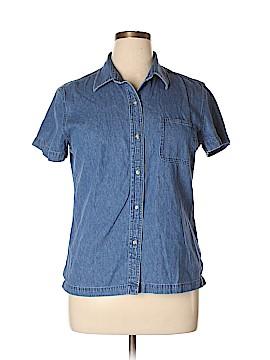Casual Corner Short Sleeve Button-Down Shirt Size XL