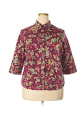 Blair 3/4 Sleeve Button-Down Shirt Size XL