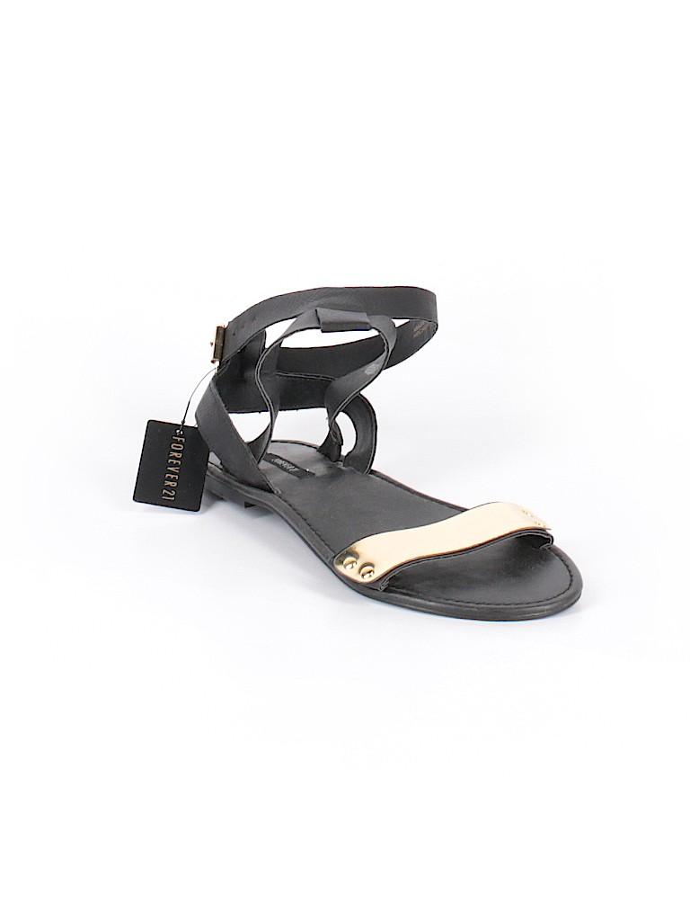 4e56b8a5033 Forever 21 Color Block Black Sandals Size 7 - 56% off
