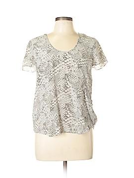 Gemma Short Sleeve Silk Top Size L