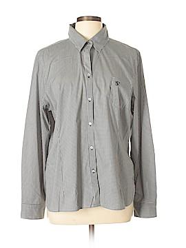 Peck & Peck Long Sleeve Button-Down Shirt Size 16