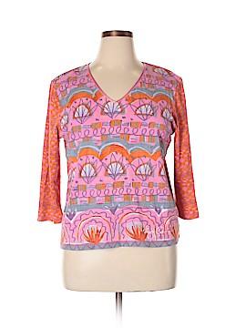 Sigrid Olsen 3/4 Sleeve T-Shirt Size 1X (Plus)