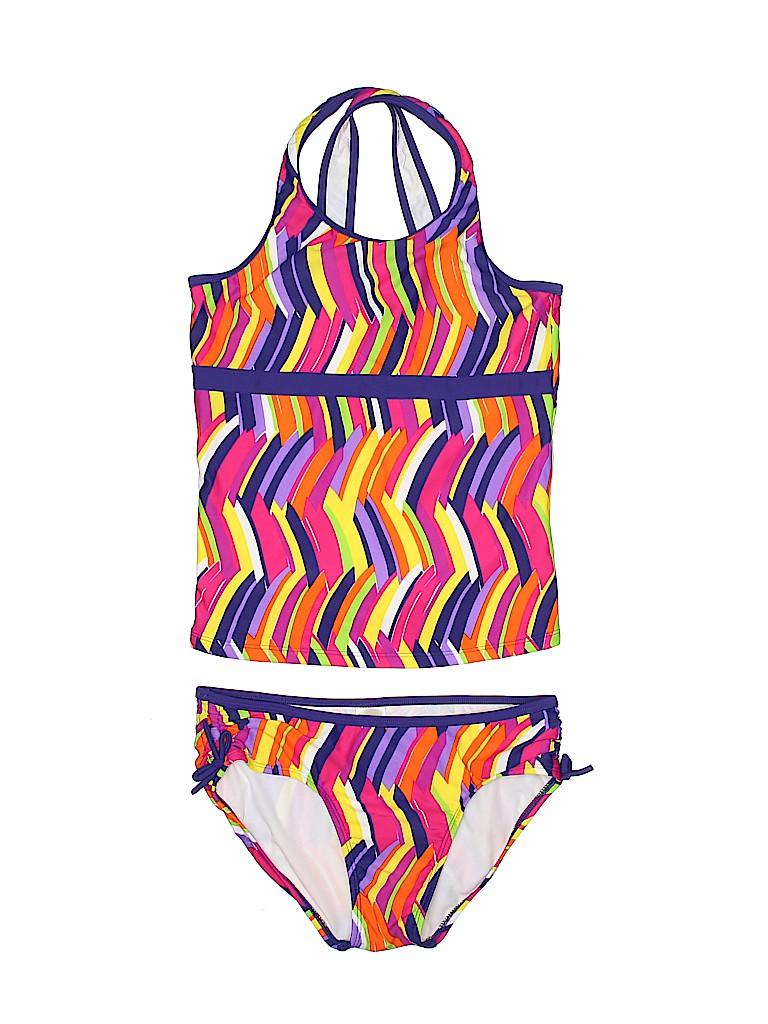 88ae5f2997a60 L.L.Bean Print Dark Purple Two Piece Swimsuit Size 14 - 51% off ...