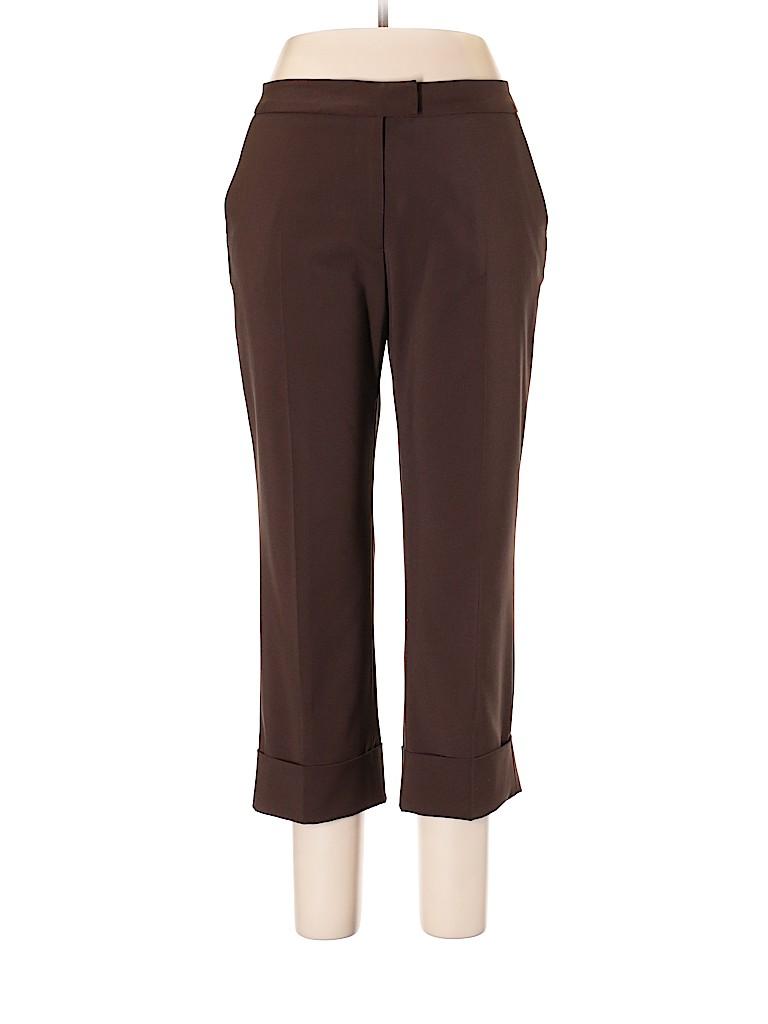 2c6b3d8fbeb Oscar by Oscar De La Renta Solid Brown Dress Pants Size 12 - 77% off ...