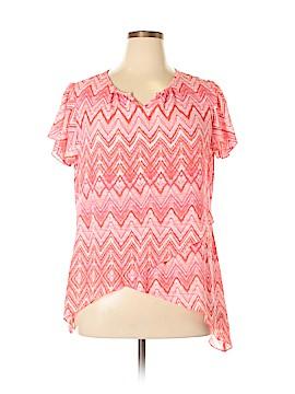 Zac & Rachel Short Sleeve Blouse Size XL (Petite)