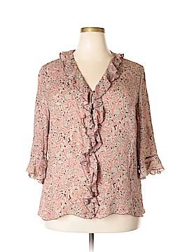 Lane Bryant Short Sleeve Silk Top Size 18 - 20 Plus (Plus)