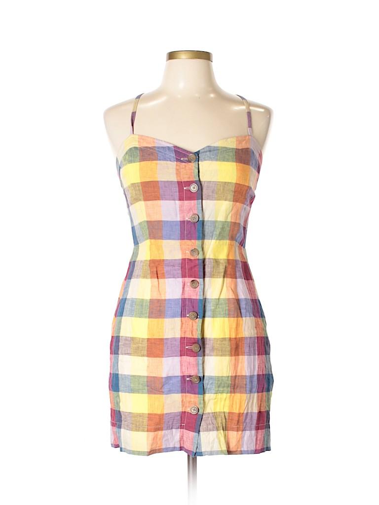 42f288c10c Wilfred 100% Linen Plaid Orange Casual Dress Size 10 - 84% off