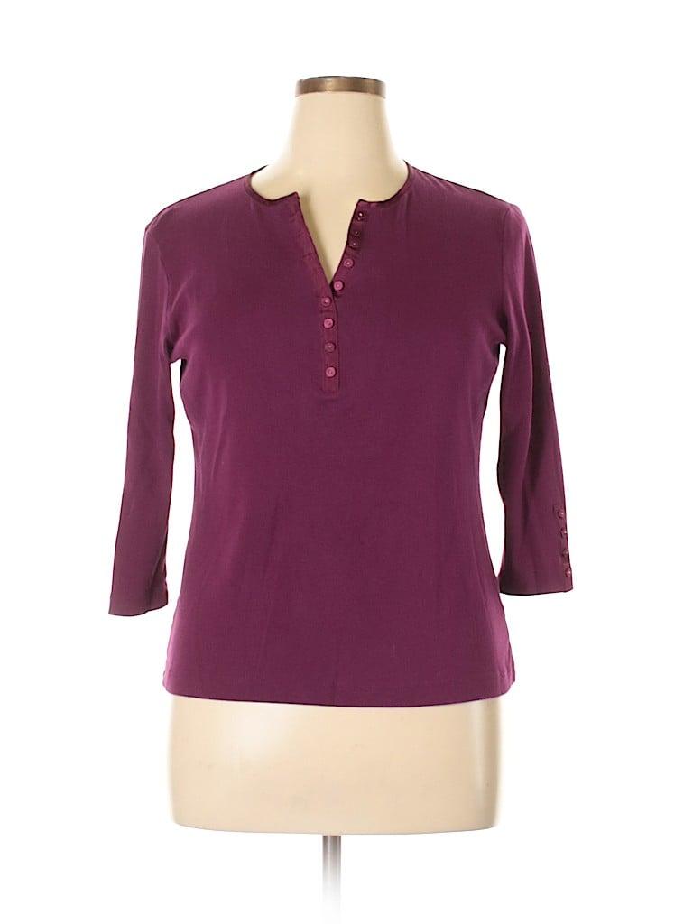 DressBarn Women 3/4 Sleeve Henley Size XL