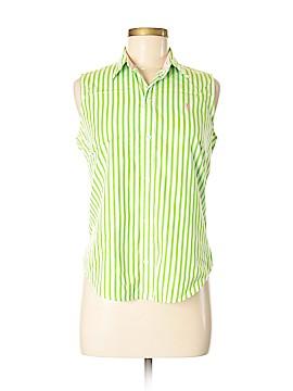 Ralph Lauren Sport Sleeveless Button-Down Shirt Size 8