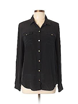 C. Wonder Long Sleeve Silk Top Size XL