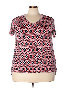 Jones New York Signature Short Sleeve Blouse Size 3X (Plus)