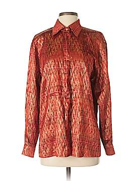 Escada by Margaretha Ley Long Sleeve Silk Top Size 40 (IT)