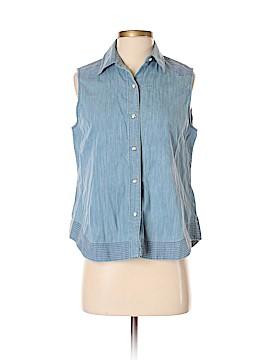 Rag & Bone/JEAN Sleeveless Button-Down Shirt Size S
