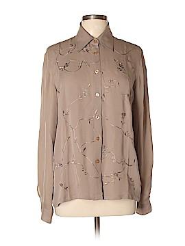 Grace Elements Long Sleeve Silk Top Size L