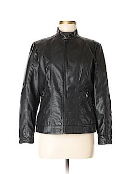 Roz & Ali Faux Leather Jacket Size M
