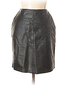 Evan Davies Leather Skirt Size 12