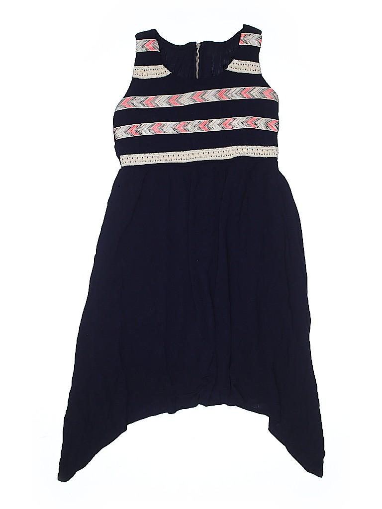 575f30441e3 PaperDoll 100% Rayon Stripes Navy Blue Dress Size 12 - 65% off