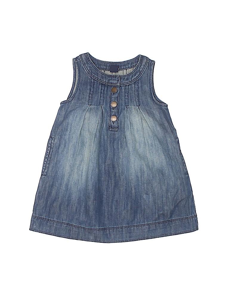 Baby Gap 100 Cotton Solid Navy Blue Dress Size 2 65 Off Thredup