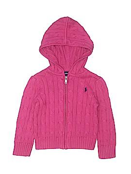 Ralph Lauren Zip Up Hoodie Size 2-2t