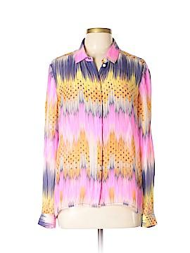 Leifsdottir Long Sleeve Silk Top Size 12