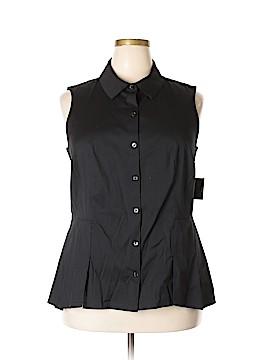 Charter Club Sleeveless Button-Down Shirt Size 16w