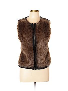 Adrianna Papell Faux Fur Vest Size L