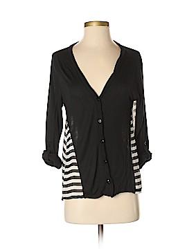 Monteau 3/4 Sleeve Button-Down Shirt Size M