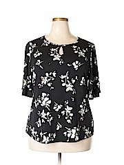 Charter Club Women Short Sleeve Blouse Size 2X (Plus)