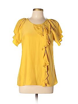 Parker Short Sleeve Silk Top Size L