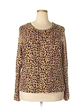 Leslie Fay Long Sleeve T-Shirt Size 3X (Plus)