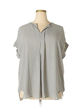 Max Studio Short Sleeve Blouse Size 2X (Plus)