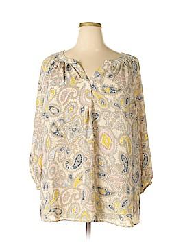 Cynthia Rowley for Marshalls 3/4 Sleeve Blouse Size 3X (Plus)