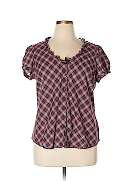 St. John's Bay Short Sleeve Button-Down Shirt Size XL (Petite)